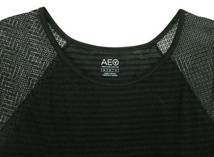 American Eagle Outfitters Aeo Short Sleeve Medium Knit Top Black