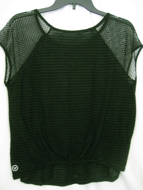 American Eagle Outfitters Aeo Short Sleeve Medium Knit Top Black Image 1