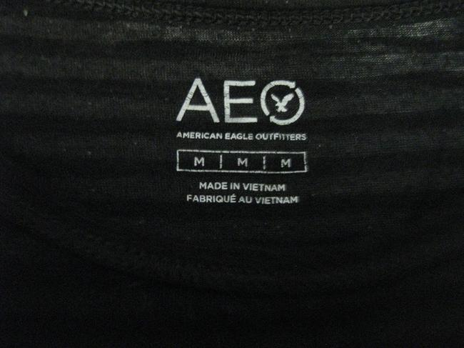American Eagle Outfitters Aeo Short Sleeve Medium Knit Top Black Image 3