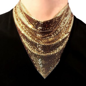 Whiting & Davis Whiting And Davis Mesh Signature Triangle Drop Necklace Scarf