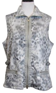 Chico's Zenergy by Chico's Gray Shiny Sleeveless Vest 2 L
