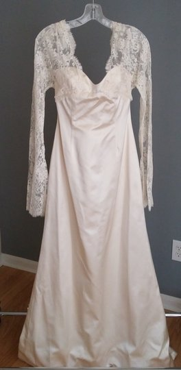 Preload https://item3.tradesy.com/images/ivory-silk-and-alsace-lace-vintage-inspired-feminine-wedding-dress-size-6-s-2022817-0-1.jpg?width=440&height=440
