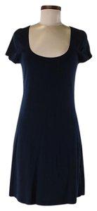 Three Dots short dress Scoop-neck Shift Combed on Tradesy