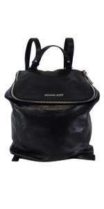 Michael Kors Black Grainy Leather Backpack