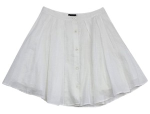 Theory White A-line Skirt