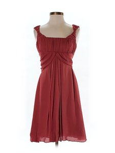 Nicole Miller Silk Chiffon Empire Waist Dress