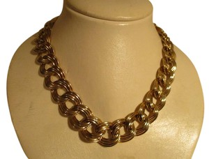 Anne Klein chunky double link chain toggle