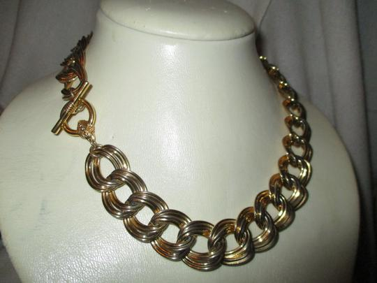 Anne Klein chunky double link chain toggle Image 10
