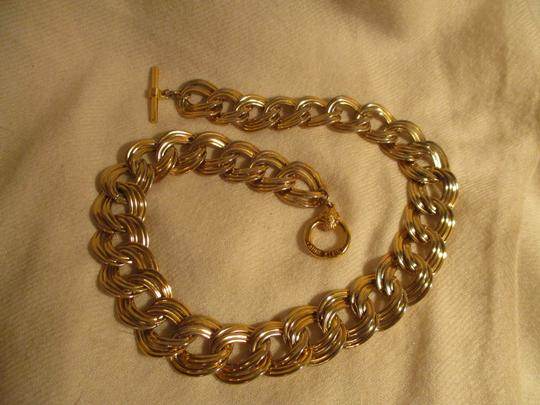 Anne Klein chunky double link chain toggle Image 5