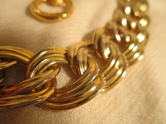 Anne Klein chunky double link chain toggle Image 7