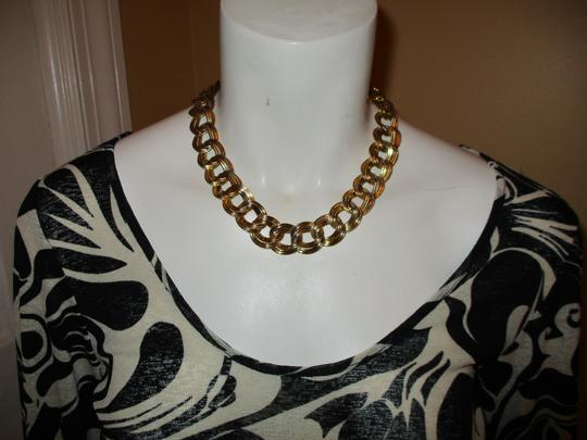 Anne Klein chunky double link chain toggle Image 8
