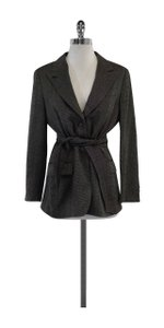 Max Mara Black White Wool Tweed Jacket