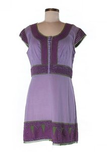 Vivienne Tam short dress Purple, Green on Tradesy
