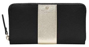 Kate Spade NEW Kate Spade Cedar Street Lacey Wallet Black/Gold Saffiano Leather