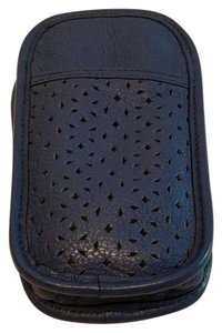 Levenger Levenger Perforated Leather Eyeglass Pen Case with Lens Cloth