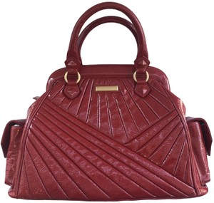 Isabella Fiore Patent Satchel in Red