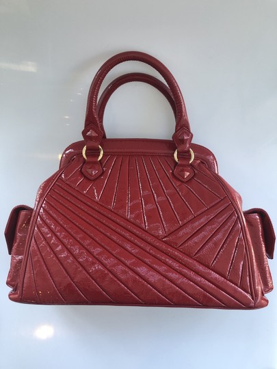 Isabella Fiore Patent Satchel in Red Image 1