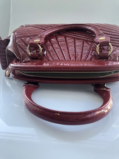 Isabella Fiore Patent Satchel in Red Image 11