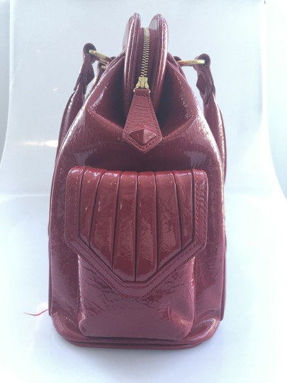 Isabella Fiore Patent Satchel in Red Image 2
