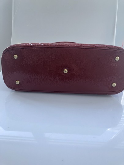 Isabella Fiore Patent Satchel in Red Image 5