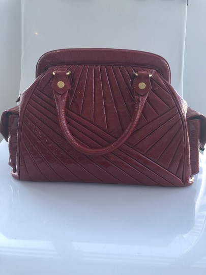 Isabella Fiore Patent Satchel in Red Image 6