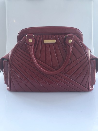 Isabella Fiore Patent Satchel in Red Image 8