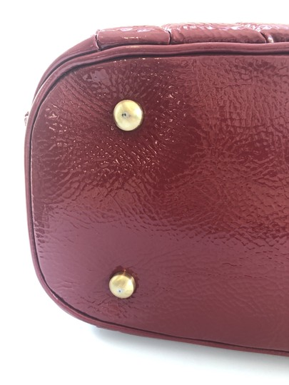 Isabella Fiore Patent Satchel in Red Image 9