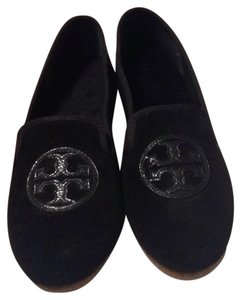Tory Burch Black with black Tory Burch logo Flats