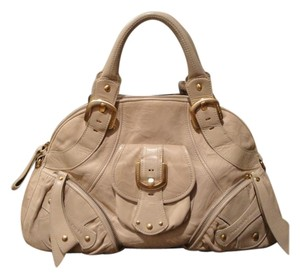 Isabella Fiore Leather Like New Satchel in Beige