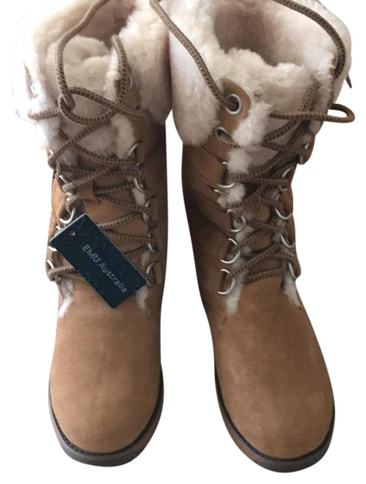 Emu Tan Suede With Australian Wool Lining Boots Booties