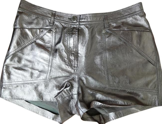 Item - Silver Leather Shorts Size 4 (S, 27)