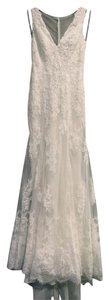 Wtoo Ivory Gown/Ivory Lining Alencon Lace Tulle Stretch Satin Francine/Style Number 13132 Vintage Wedding Dress Size 0 (XS)