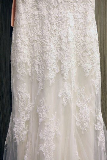 Wtoo Ivory Gown/Ivory Lining Alencon Lace Tulle Stretch Satin Francine/Style Number 13132 Vintage Wedding Dress Size 0 (XS) Image 3