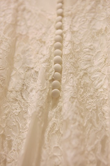 Wtoo Ivory Gown/Ivory Lining Alencon Lace Tulle Stretch Satin Francine/Style Number 13132 Vintage Wedding Dress Size 0 (XS) Image 8