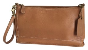 Coach Wristlet in Tan/Caramel