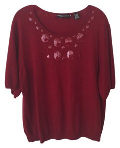 Dana Buchman Cashmere Top Red