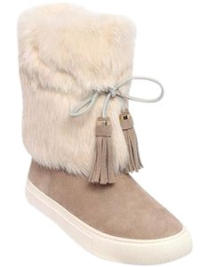 Tory Burch Angelica Fur NATURAL Boots