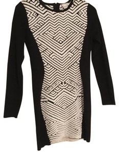 Glamorous short dress Black and White on Tradesy