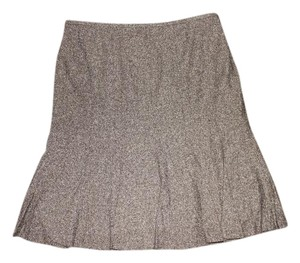 Ann Taylor LOFT Pleated Skirt Brown