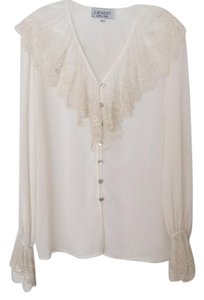 Laundry by Shelli Segal Lace Ivory Top Ivory (off-white)