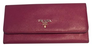 Prada Prada Saffiano Leather Flap Wallet