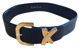 Paloma Picasso Paloma Picasso Black Leather Belt