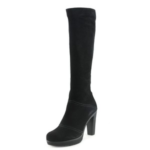 La Canadienne Suede Wedge Snow Boot Black Boots