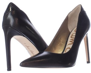 Sam Edelman Leather Pointed Toe Black Pumps