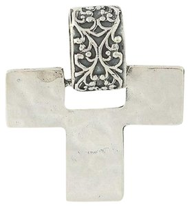 Silpada Sterling Silver Oxidized Hammered Cross Pendant S1514