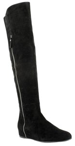 Stuart Weitzman Over The Knee Rubber Sole Black Boots