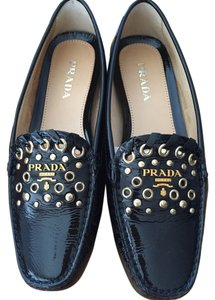 Prada Black Patent Leather Flats