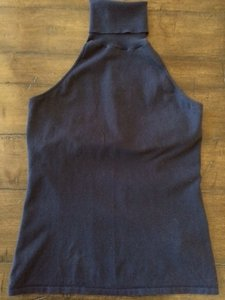 Ralph Lauren Cotton Stretch Black Label navy Halter Top