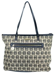 Michael Kors Monogram Leather Mk Tote in Multi