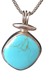 Sterling Mexico Turquoise Sterling Silver Necklace